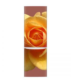 Наклейка на холодильник - Желтая роза