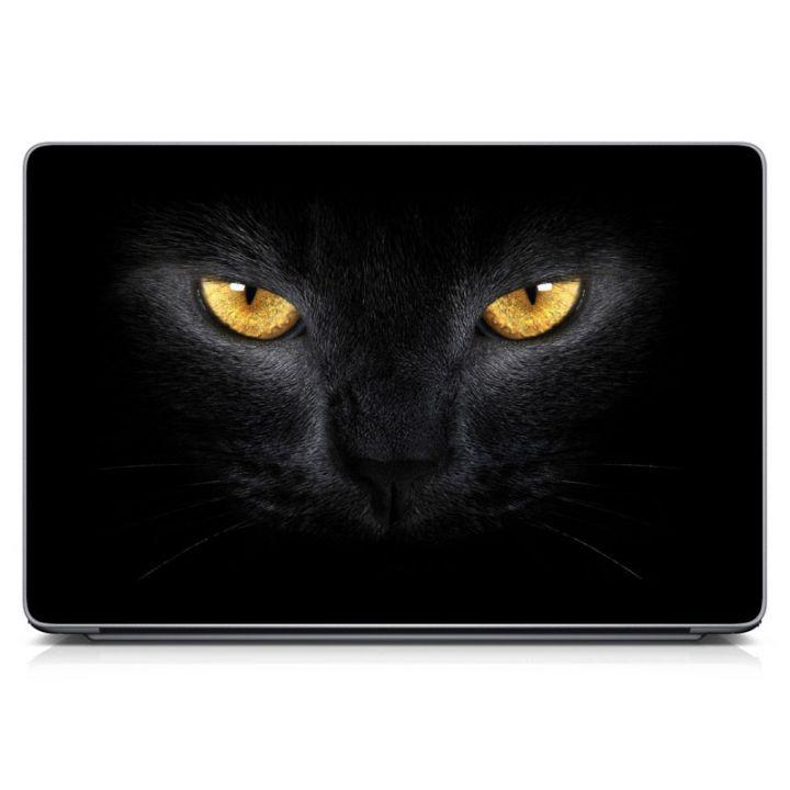 Цветные наклейки на Макбук Black Cat Eyes