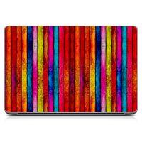 Наклейка на ноутбук - Colorful Wood