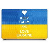 Наклейка на ноутбук - Keep Calm and Love Ukraine