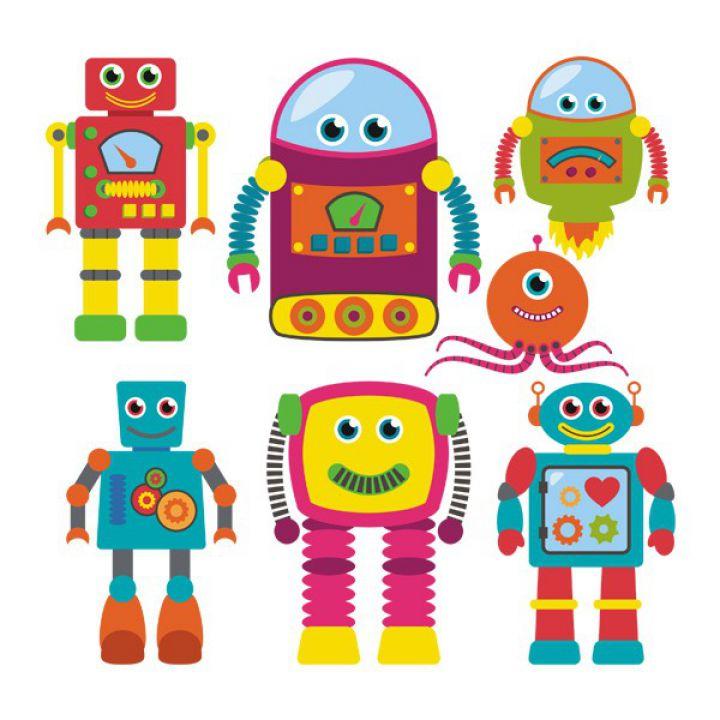 Интерьерная Наклейка Glozis Robots