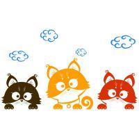 Виниловая Наклейка Glozis Three Kittens