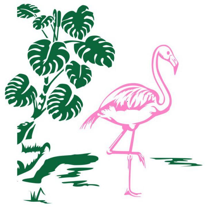 Интерьерная Наклейка Glozis Flamingo