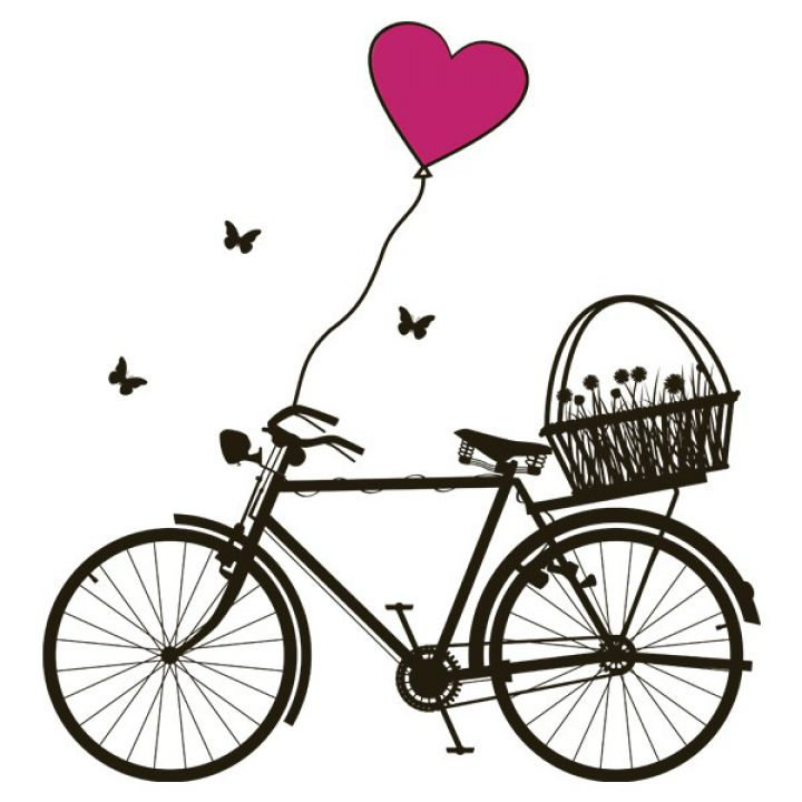 Інтер'єрна Наклейка Glozis Bicycle