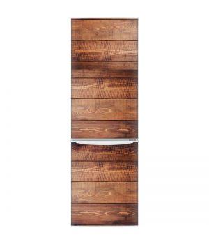Наклейка на холодильник - Стена из дерева