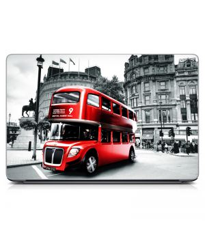 """Универсальная наклейка на ноутбук 15.6""""-13.3"""" Bus in London Матовая 380х250 мм"""