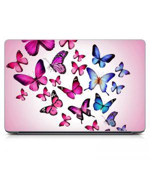 """Универсальная наклейка для ноутбука, 13.3""""-17.3"""" 400x260 мм Pink Butterflies Матовая"""