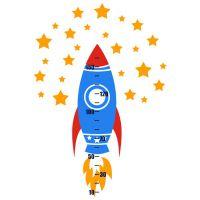 Интерьерная Наклейка Glozis Rocket