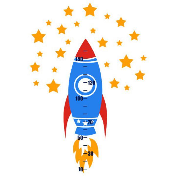 Інтер'єрна Наклейка Glozis Rocket