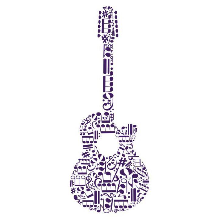Інтер'єрна Наклейка Glozis Guitar