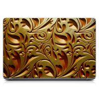 Наклейка на ноутбук - Dark Gold Texture