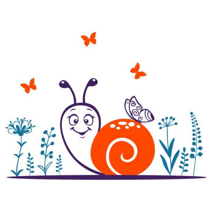 Интерьерная Наклейка Glozis Snail