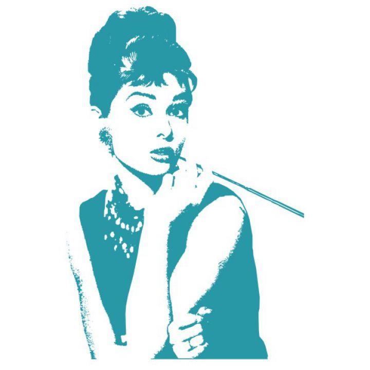 Інтер'єрна Наклейка Glozis Audrey Hepburn