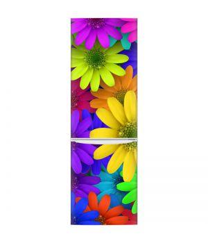 Наклейка на холодильник - Цветущие цветы