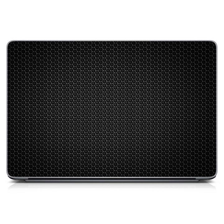 """Универсальная наклейка для ноутбука, 13.3""""-17.3"""" 400x260 мм Black Metal Матовая"""