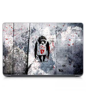 """Универсальная наклейка на ноутбук 15.6""""-13.3"""" Monkeys Матовая 380х250 мм"""