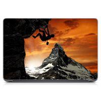 "Универсальная наклейка на ноутбук 15.6""-13.3"" Альпинист Матовая 380х250 мм"