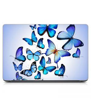 """Универсальная наклейка для ноутбука, 13.3""""-17.3"""" 400x260 мм Blue Butterflies Матовая"""