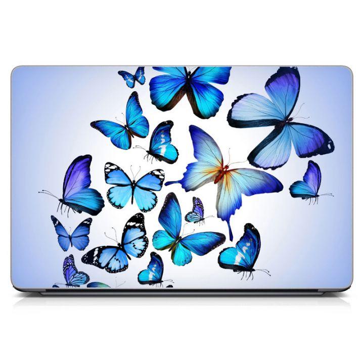 "Універсальна наклейка для ноутбука, 13.3""-17.3"" 400x260 мм Blue Butterflies Матова"