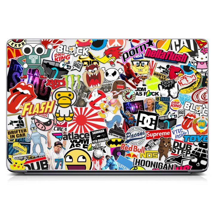 "Универсальная наклейка на ноутбук 15.6""-13.3"" Sticker Bombing 380х250 мм"