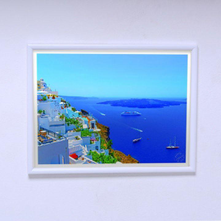 Постер в комнату Панорама Санторини