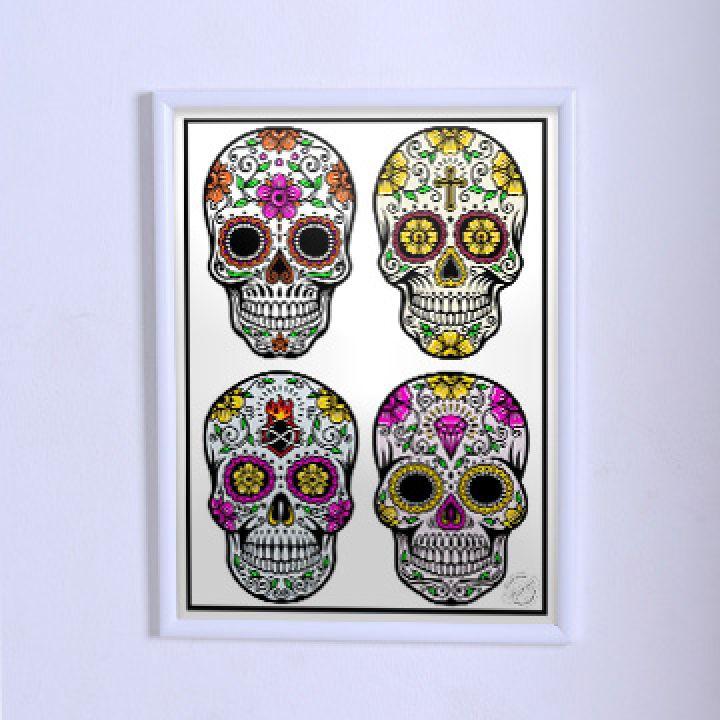Оригинальный постер ЧЧ Четыре черепа