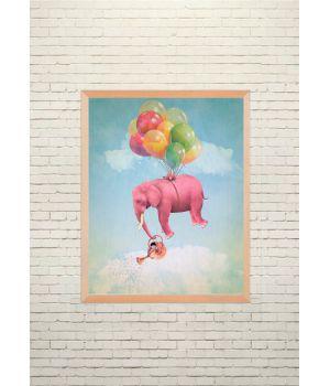 Арт постер Летающий слоник