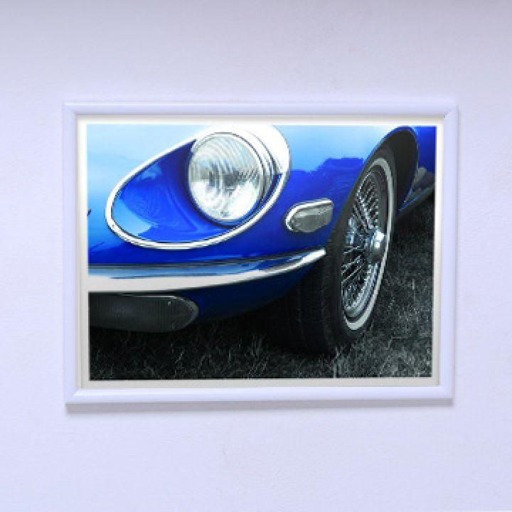 Постер на стіну Синій автомобіль