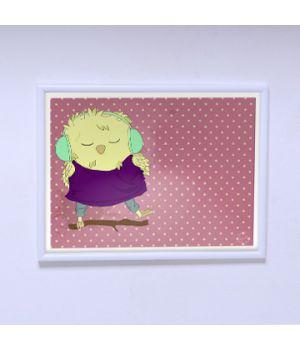 Постер на стену Цыплёнок меломан