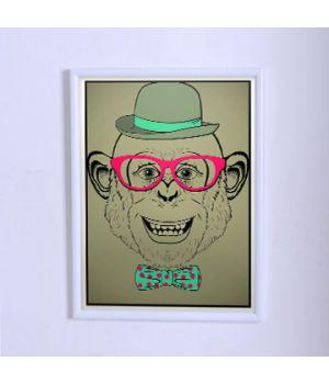 Оригинальный постер Мартышка хипстер