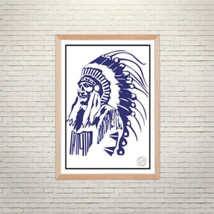Постер Арт Вождь племені