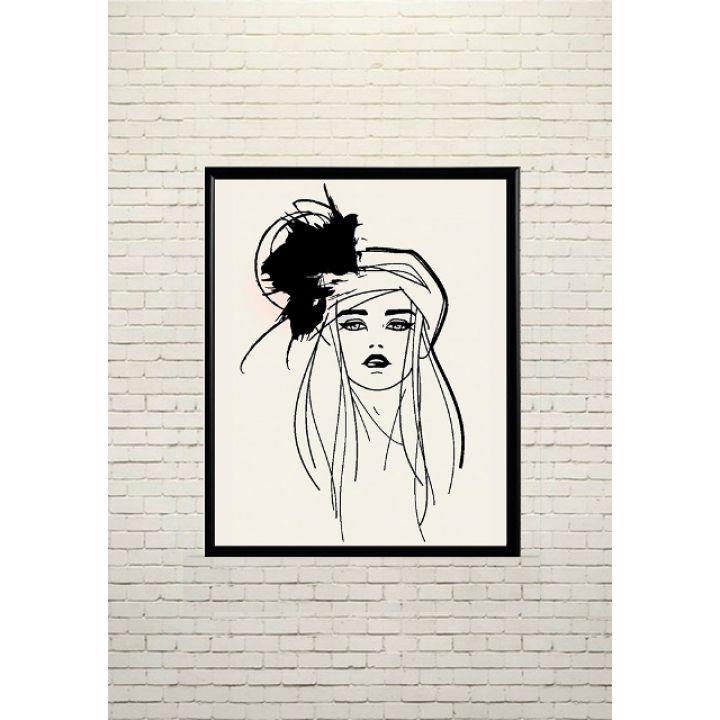 Постер Арт Модна дівчина