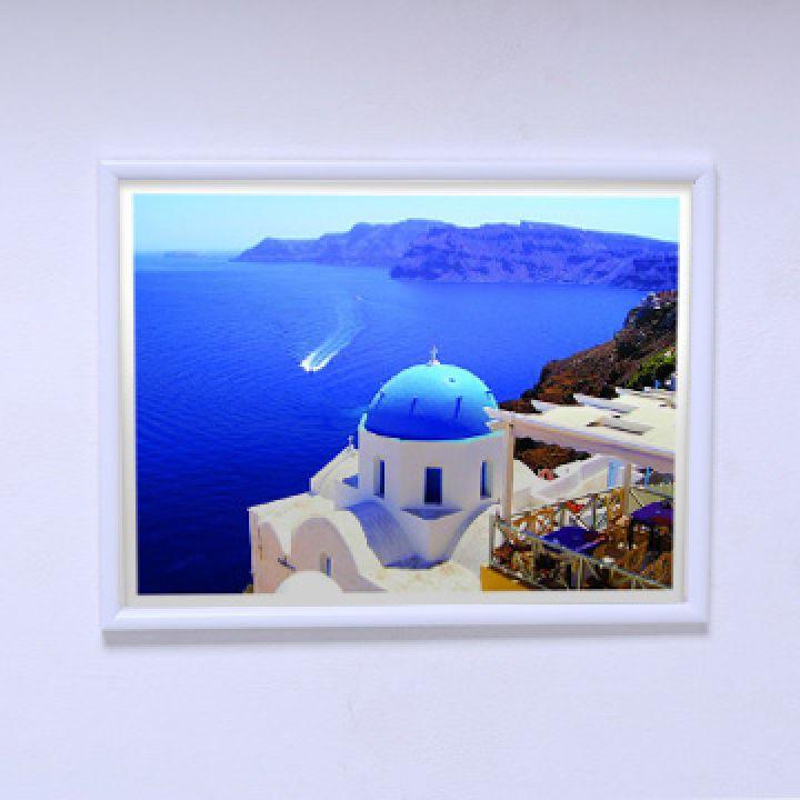 Постер для спальни Вид на море Cанторини