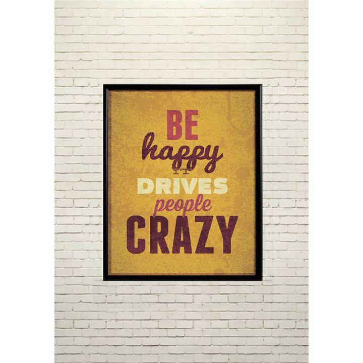 Арт постер Будь счастлив