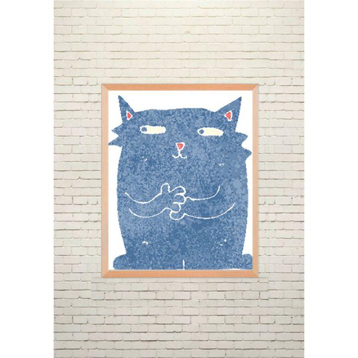 Постер Арт Синій кіт
