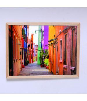 Постер для спальни Разноцветные домики