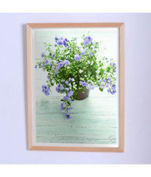 Постер для дома Голубые цветы в горшке