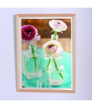 Постер для дома Цветы в стеклянных вазах