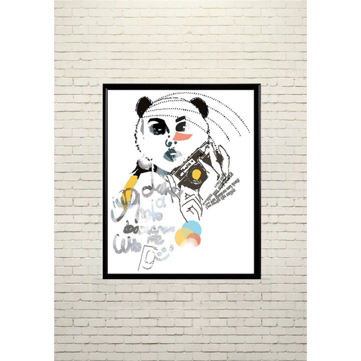 Арт постер В образі панди