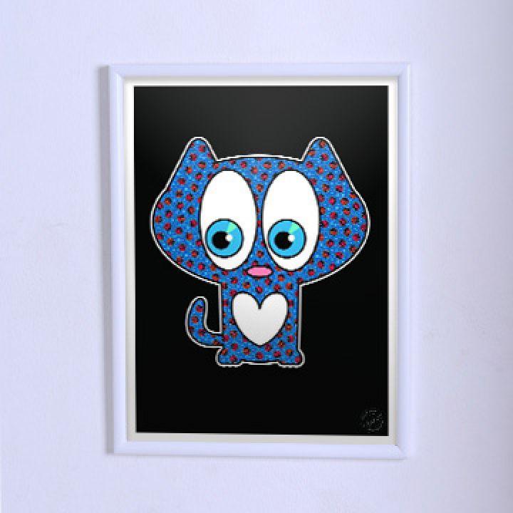 Постер Арт Синій котик