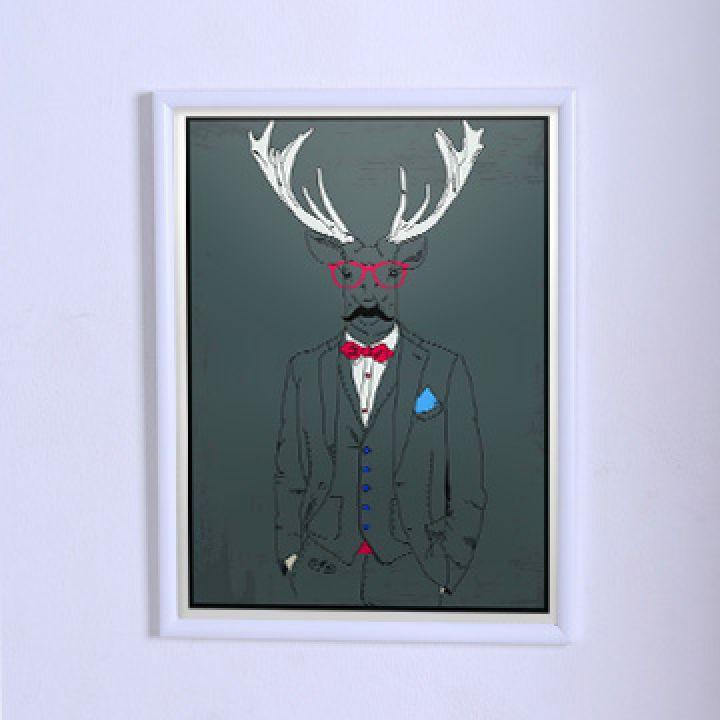 Оригинальный постер Олень в тройке