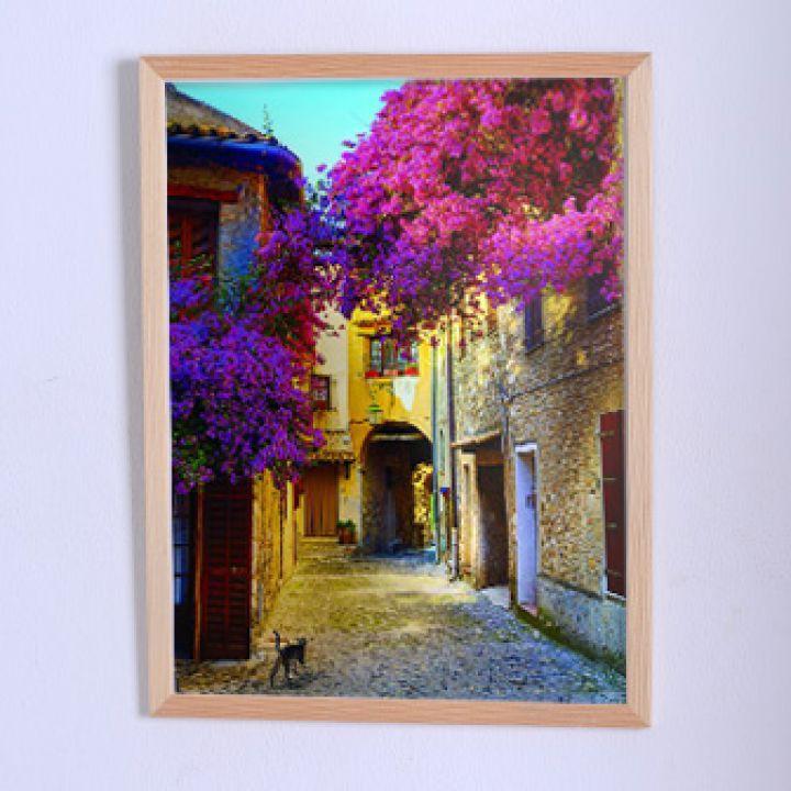 Настенный постер Город в цвету
