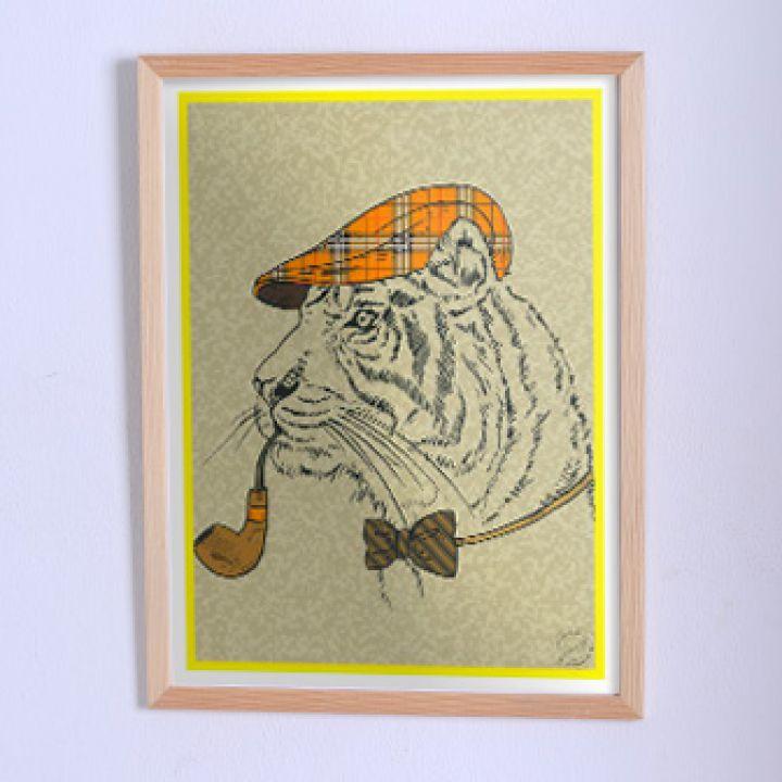 Оригинальный постер Тигр в образе Шерлока