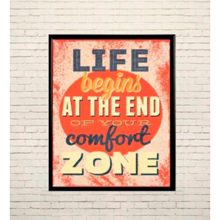 Постер Арт За межами зони комфорту