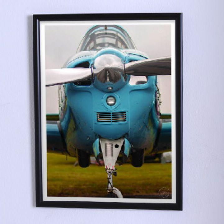 Постер Арт Блакитний аероплан