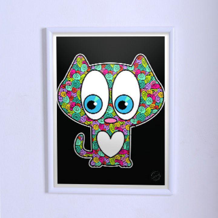 Красивий Кольоровий постер котик