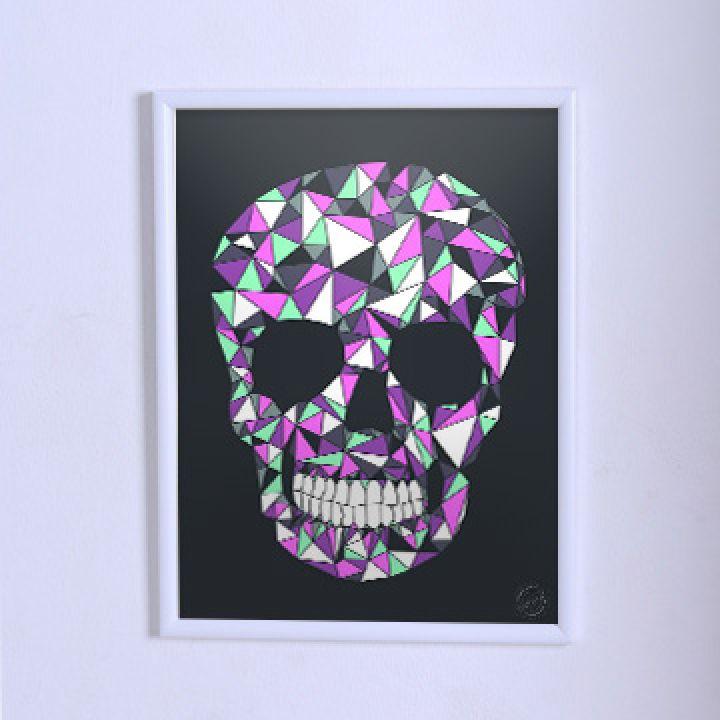 Оригинальный постер Череп с геометрическим узором 2
