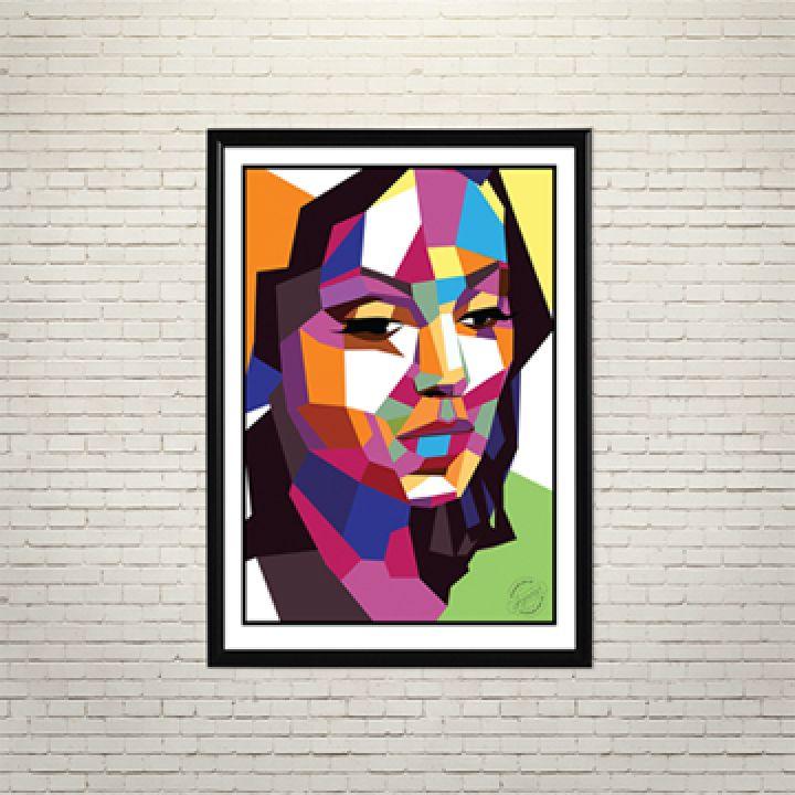Постер Арт Геометрія жіночої краси