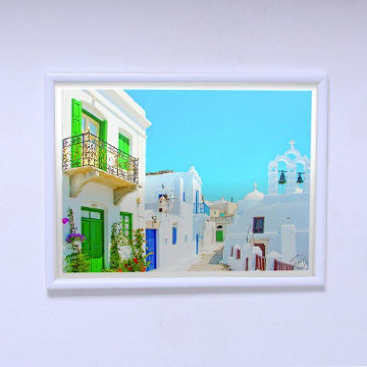 Постер в комнату Дома острова Санторини