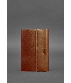 Шкіряний блокнот софт-бук 7.0 світло-коричневий